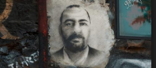 Abu Bakr al-Baghdadi, painted portrait DDC_0583 / Abode of Chaos Flickr