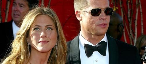 Brad Pitt e Jennifer Aniston insieme quando erano marito e moglie