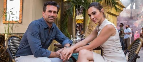 "Jon Hamm and Gal Gadot starred as Tim and Natalie Jones in ""Keeping Up with the Joneses"" in 2016. (image source BN library)"