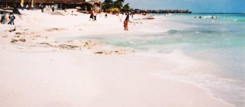Parque Fundadores en Playa del Carmen, muchos años atrás.
