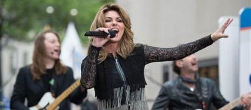 """Shania Twain treated fans to two songs from her new album """"Now"""" on the """"Today"""" show.--edited screen capture"""