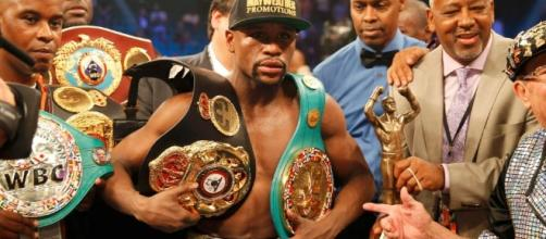 Undefeated Amrican boxer Floyd Mayweather Jr.