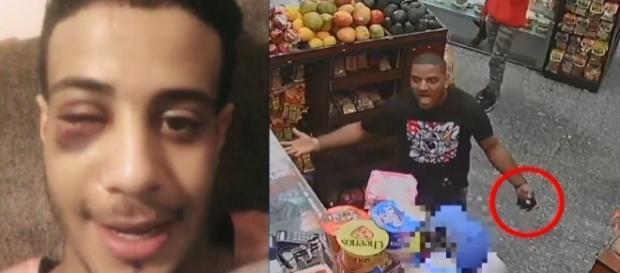 Homem quebrou a mandíbula do funcionário de uma loja arremessando abacates verdes (Crédito: YouTube/CBS New York)