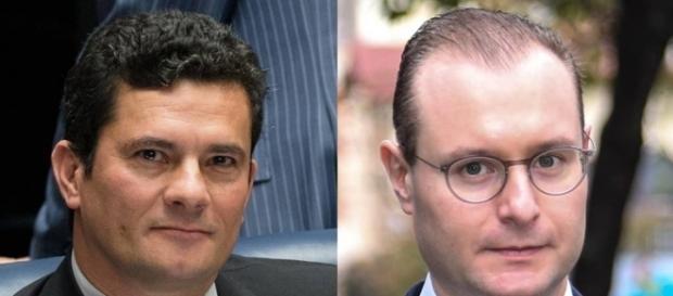 Juiz Sérgio Moro e advogado de Lula, Cristiano Zanin Martin, tiveram novo 'atrito' durante audiência (Foto: Reprodução)
