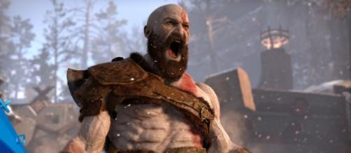 """In """"God of War 4,"""" Kratos wields an axe instead of the titular Blades of Chaos (via YouTube/PlayStation)"""