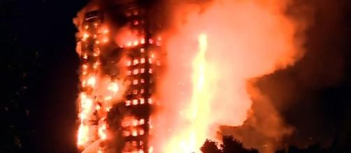 Photo Grenfell Tower screen capture from YouTube video / ABC News