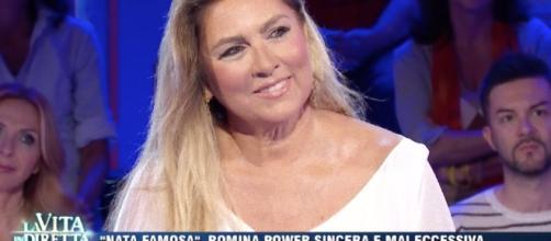 Romina Power ospite a 'La Vita in Diretta'.