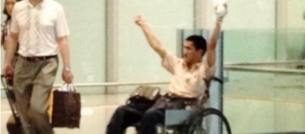 En 2013, un homme en fauteuil roulant a fait exploser une bombe à l'aéroport de Pékin.