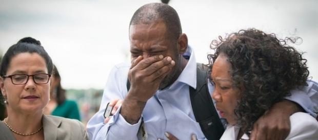Family of Philando Castile after Jeronimo Yanez was found not guilty. [Image via Elizabeth Flores/Star Tribune]