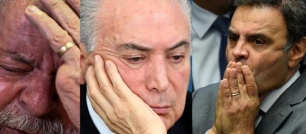 Lula, Temer e Aécio tentam frear a Lava Jato antes que seja tarde