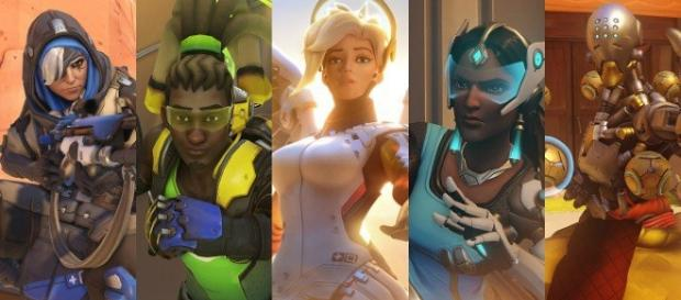 Support heroes from Blizzard's Overwatch