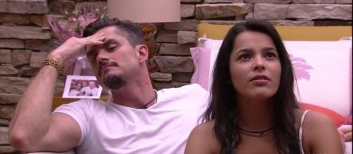 O ex-casal protagonizou momentos insólitos no BBB