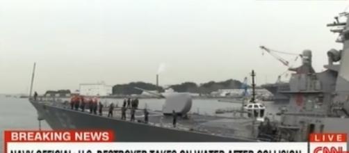 US Navy Destroyer Crashes Merchant Ship at Japan Sea/ Livestream Tv News via Youtube