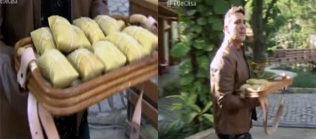 Blogueira recusa prato do dia no ''É de Casa'' servido por André Marques (Foto: Captura de vídeo)