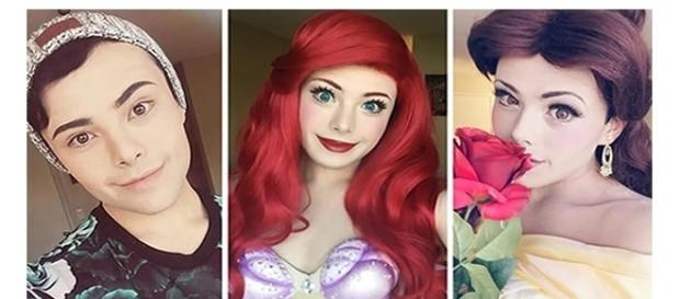 Rapaz usa cosplay de princesas da Disney