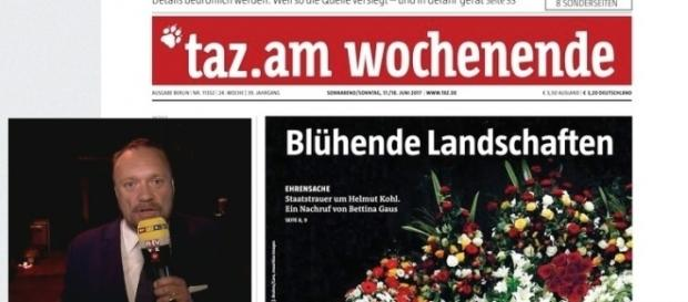 """Das RTL-Nachtjournal berichtete auch kritisch (li., kleines Foto). Die taz. schrieb von """"Blühende Landschaften"""" ; Foto: TVNow, dwdl.de Screenshot"""