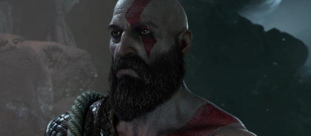 """God of War 4"" features a fully bearded Kratos, who now has a son (via YouTube/PlayStation)"