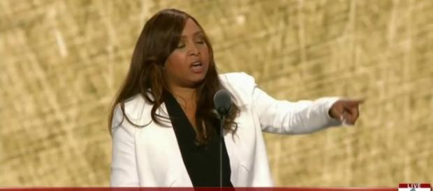 Trump family event planner Lynne Patton is now a government official. Photo via Right Side Broadcasting Network, YouTube.