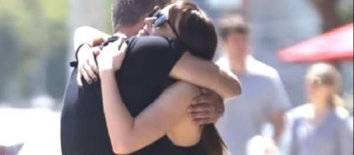 Dakota Johnson hugs a mystery guy in Hollywood, California