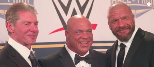 Kurt Angle is rumored to be part of a major match at this year's WWE 'SummerSlam' PPV. [Image via WWE/YouTube]