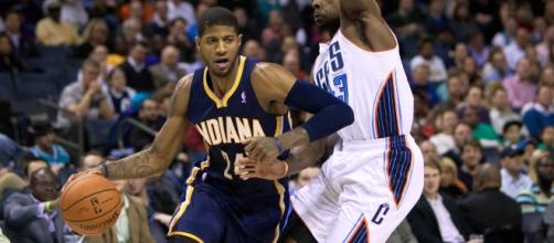 Longtime Indiana Pacers star Paul George has indicated he wants to leave the team and join the Lakers. [Image via Wikimedia Commons]
