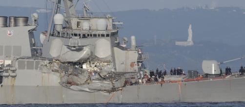 Search for 7 Navy sailors ends after bodies found on ship ...screencap CNN Youtube