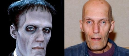 Tropeço da Família Adams antes e depois