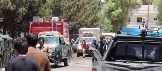 Taliban car bombing at Afghan bank kills dozens  AFP Youtube