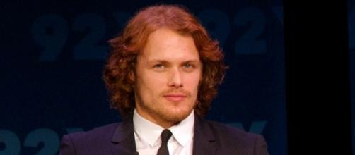 "Actor Sam Heughan revealed his relationship with TV series ""Outlander"" co-star, Caitriona Balfe. -Wikimedia Commons"