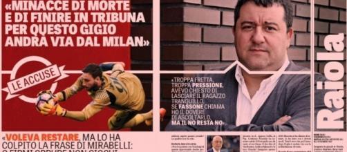 Donnarumma voleva reastare: lo dice Mino Raiola