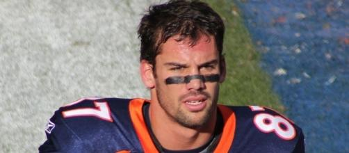 Eric Decker suited up for four years with the Denver Broncos -- Jeffrey Beall via WikiCommons