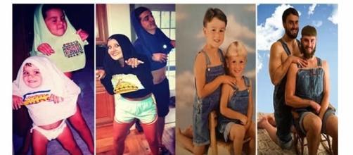Fotografias com irmãos de forma humorada