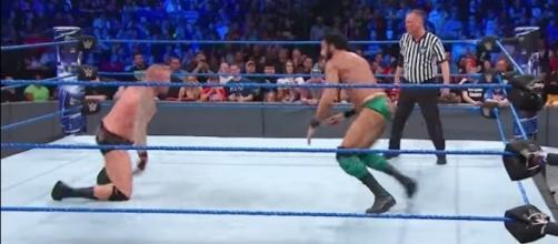 Jinder Mahal defended the WWE World Championship against Randy Orton at Sunday's 'Money in the Bank' PPV. [Image via WWE/YouTube]