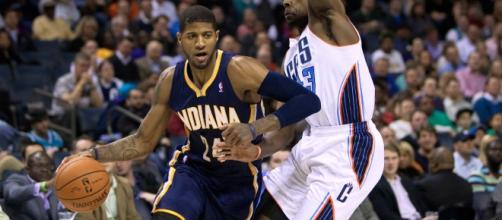 Paul George of the Indiana Pacers in action (Via WikiMedia)