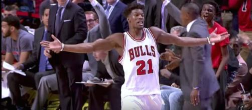 Will Chicago's Jimmy Butler still be on the Bulls for the 2017-18 NBA season or a new team? [Image via NBA/YouTube]