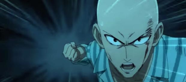 One punch man episode 1 eng dub/ sceencap from Ghost like entertainment via Youtube