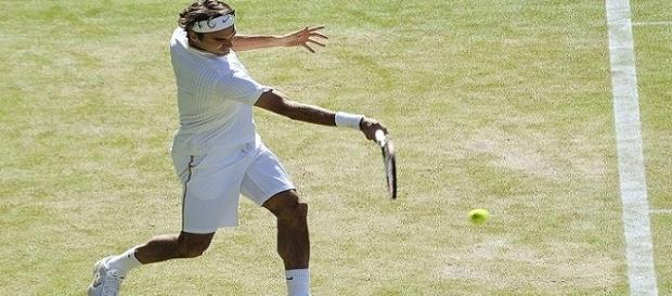 Roger Federer during 2009 Wimbledon/ Photo: Justin Smith via Flickr CC BY-SA 2.0