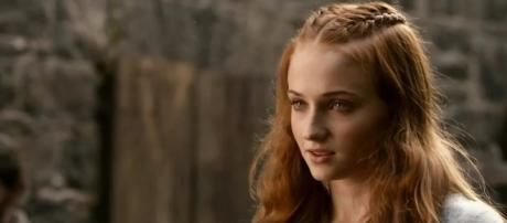 "Sophie Turner plays Sansa Stark in HBO's ""Game of Thrones."" screencap sansa stark Youtube"