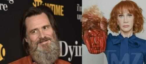 Jim Carrey defends Kathy Griffin's controversy which cost her work in CNN as host. Photo - ijr.com