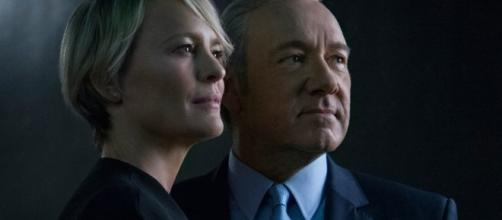 Robin Wright and Kevin Spacey as Claire and Frank Underwood in 'House of Cards.' (Facebook/House of Cards)