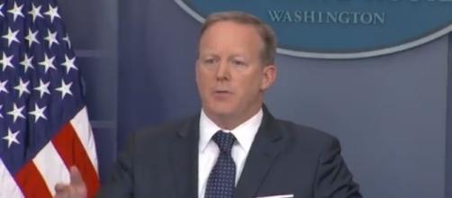 Sean Spicer at press briefing, via Twitter