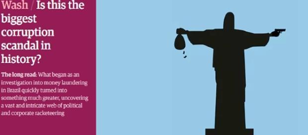 Jornal Britânico relaciona Cristo redentor com corrupção