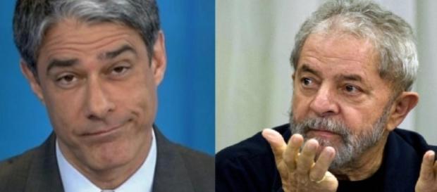 Lula se irrita com apresentador William Bonner ( Foto: Reprodução)