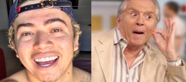 O youtuber faz sucesso por causa de suas imitações ( Fotos - SBT/Google )