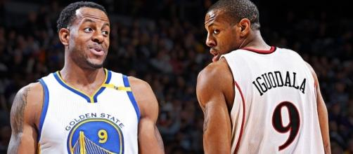 """Andre Iguodala is rumored to """"seriously consider"""" free agency this summer (via YouTube/NBA)"""