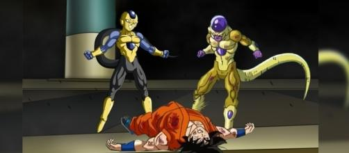 Freezer y Frost en contra de Son Goku