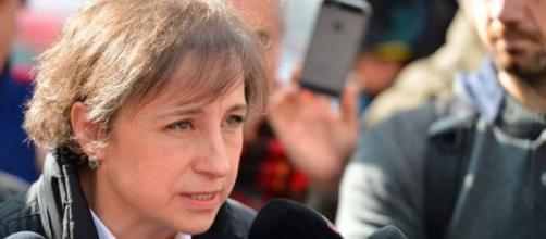 La periodista Carmen Aristegui se mostró preocupada por el espionaje en contra de su hijo por parte del gobierno