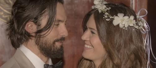 """Milo Ventimiglia and Mandy Moore play Jack and Rebecca Pearson in """"This is Us."""" image source BN library"""