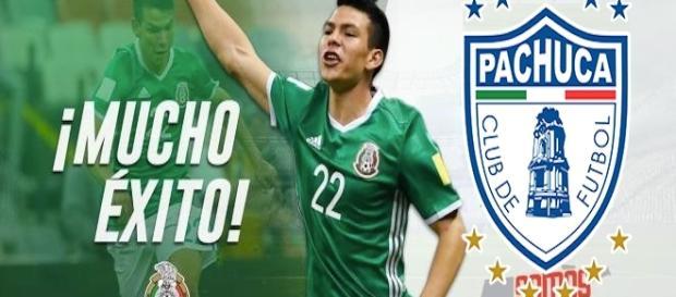 Hirving Lozano se despide del Pachuca