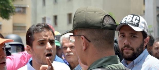 Las protestas en Venezuela han sido dispersadas por una fuerte represión Foto: Cortesía